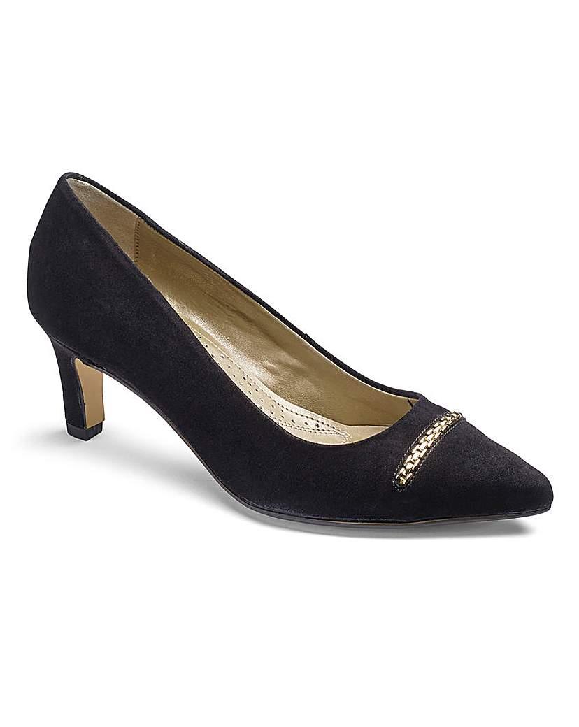 Van Dal Suede Court Shoes E Fit