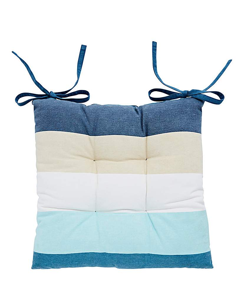 Ocean Stripe Cushion Seat Pad