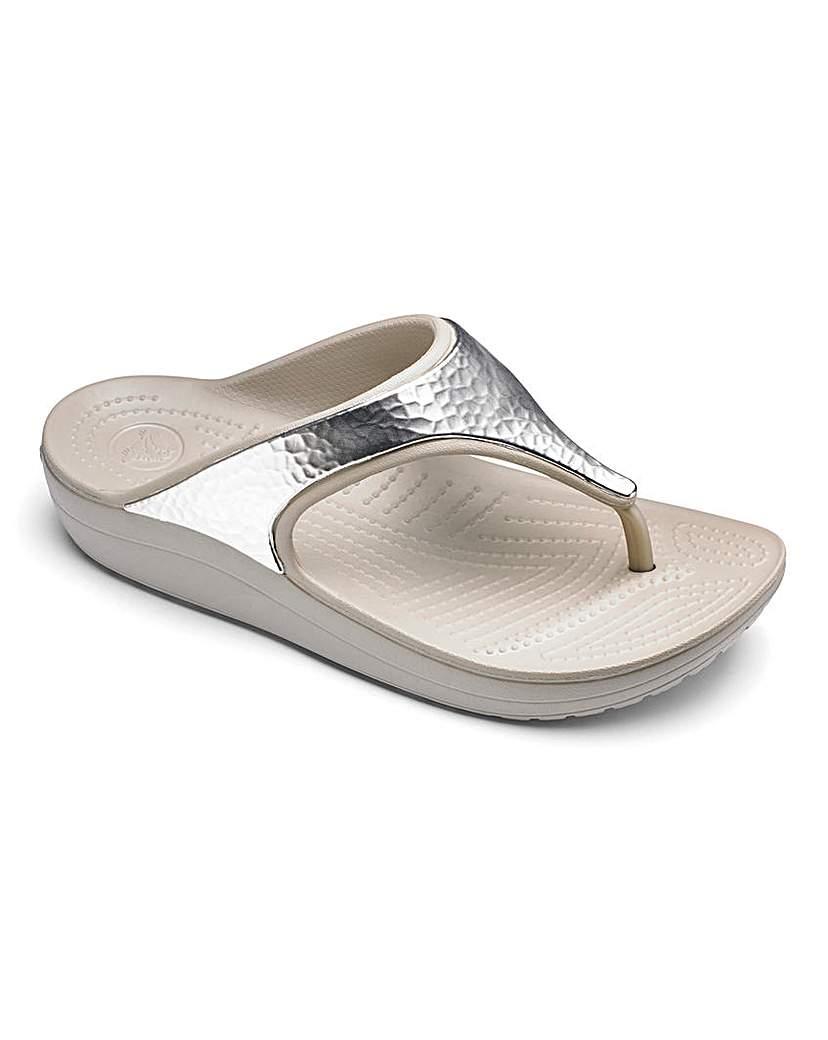 Image of Crocs Toe Post Mule Sandals D Fit