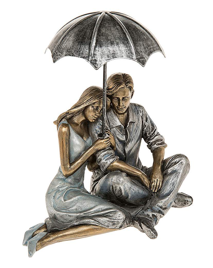 Image of Rainy Day Romance Sitting Couple