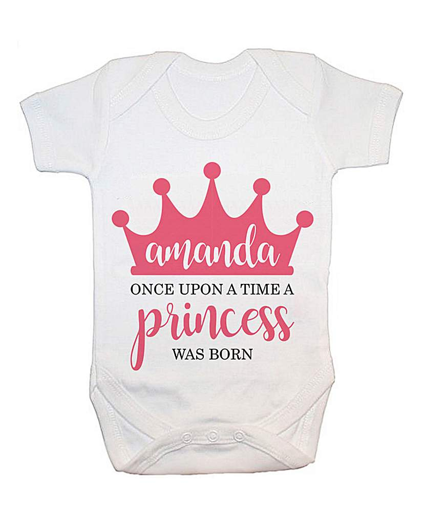 Personalised Once Upon A Time Baby Vest