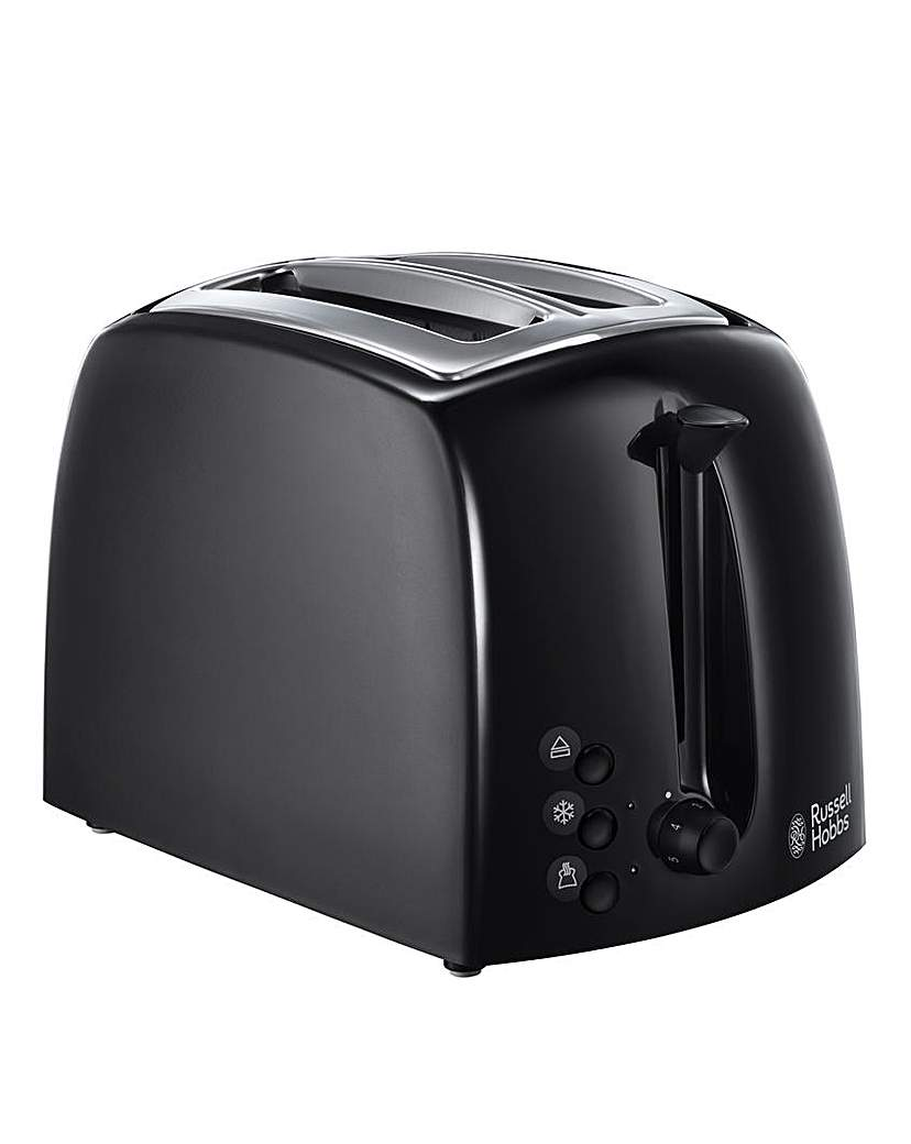 Russell Hobbs Textures Black Toaster