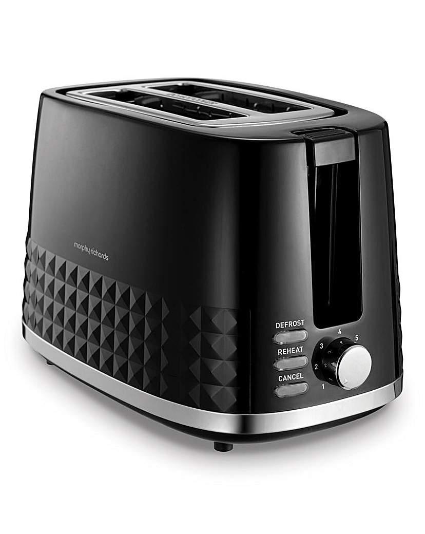 Morphy Richards Dimension Black Toaster