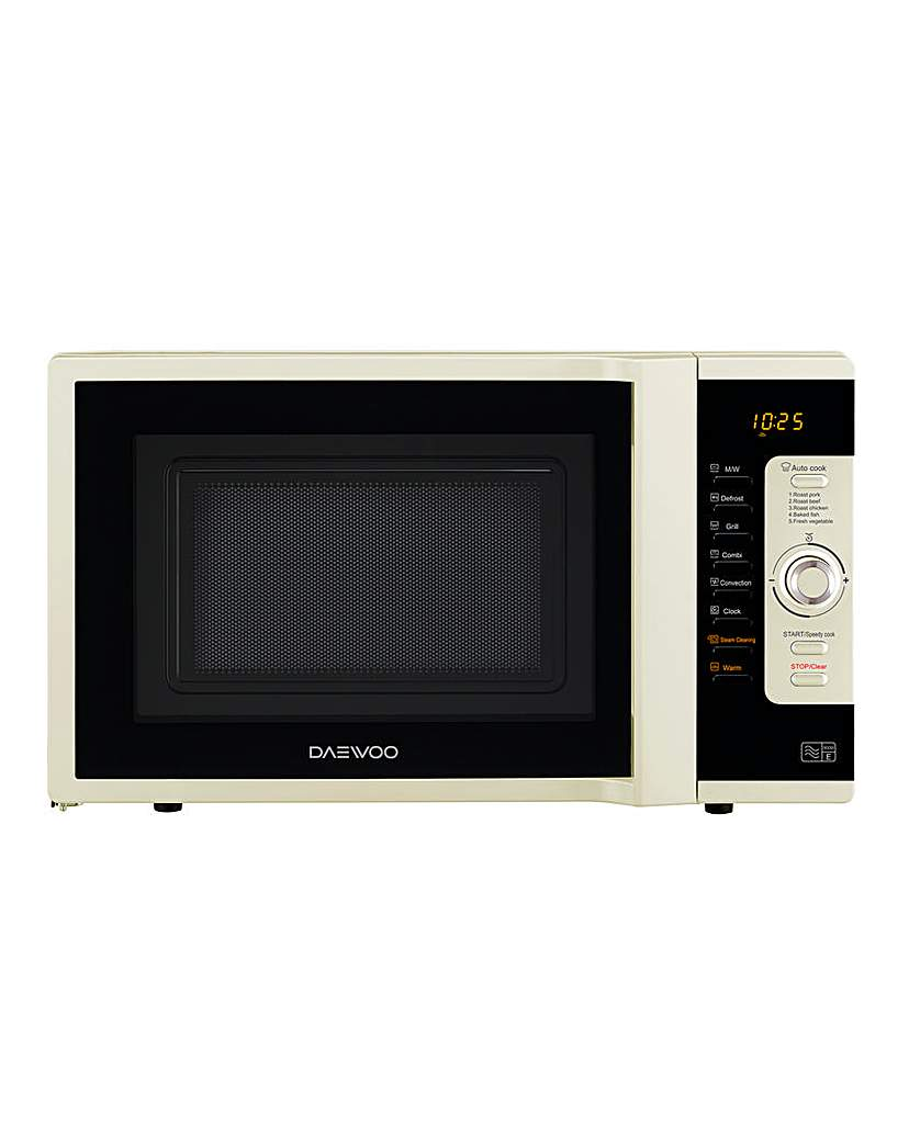 Image of Daewoo 28L 3in1 Combi Cream Microwave