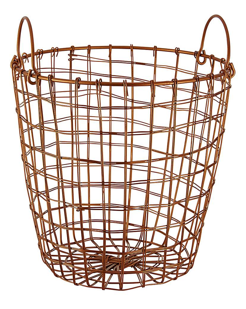 Metal Wire Copper Basket Painted