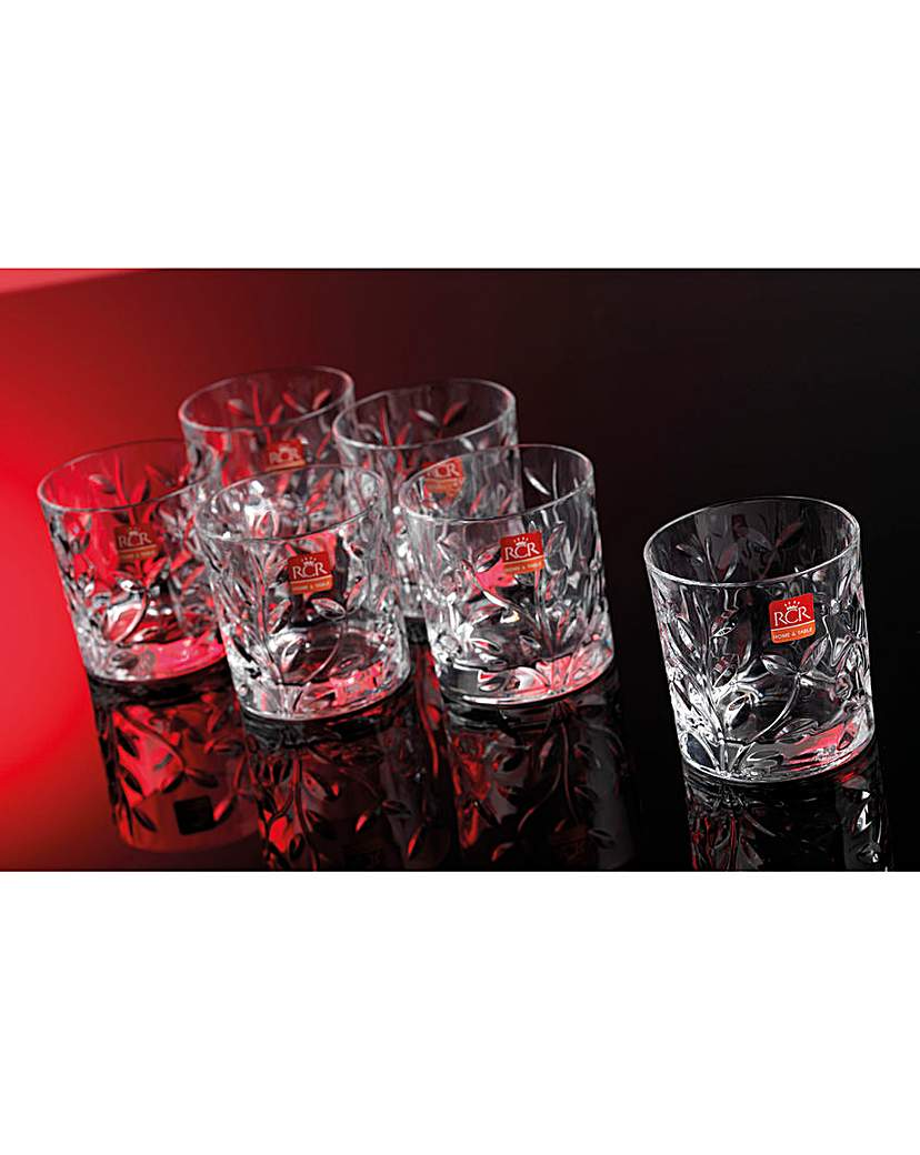 RCR Crystal Laurus Whisky Glasses
