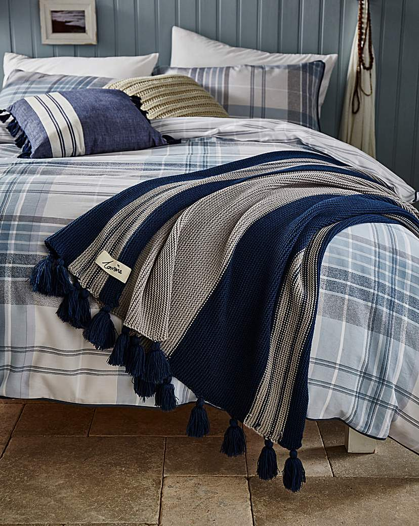 Image of Lorraine Kelly Cardonald Stripe Throw