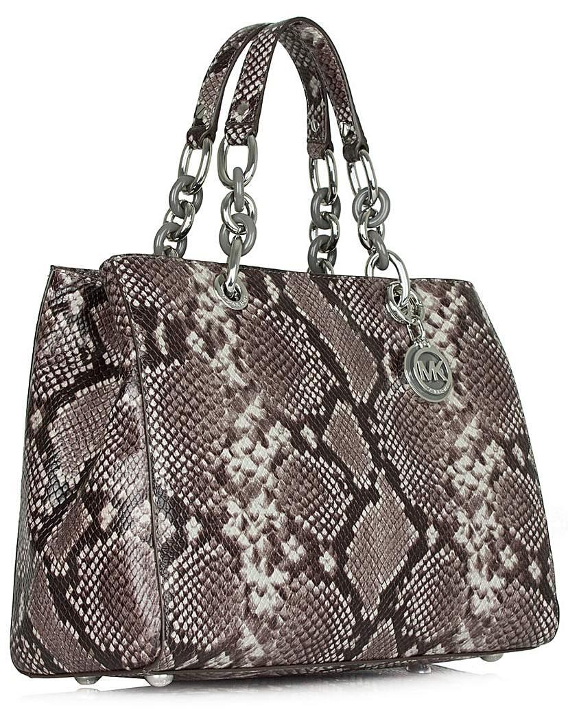 Michael Kors Cyn Grey Satchel Bag