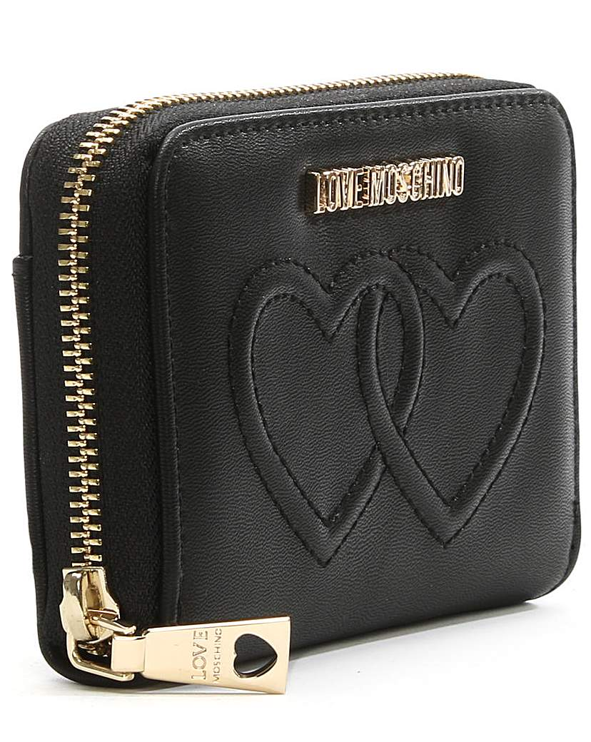 Love Moschino Heart Embossed Wallet