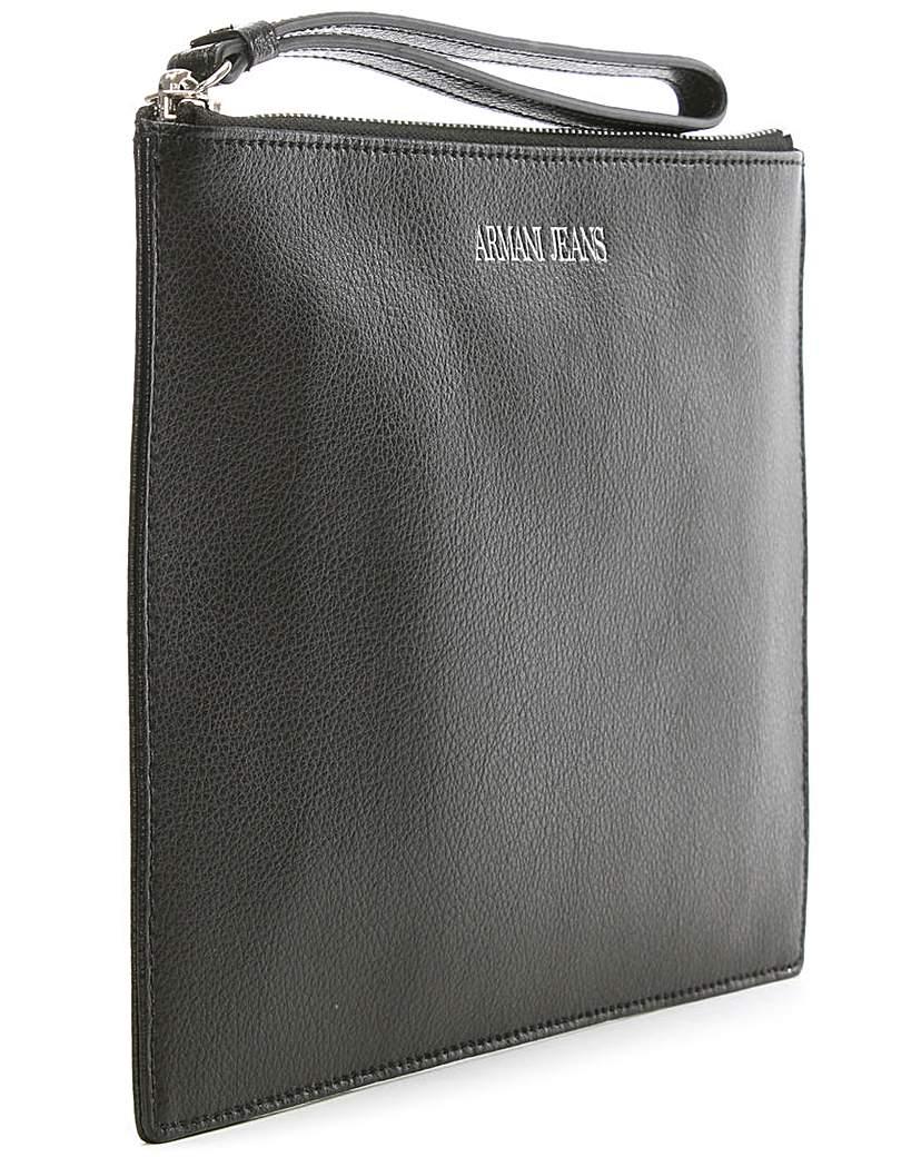 Image of Armani Jeans Black Wallet Strap Bag