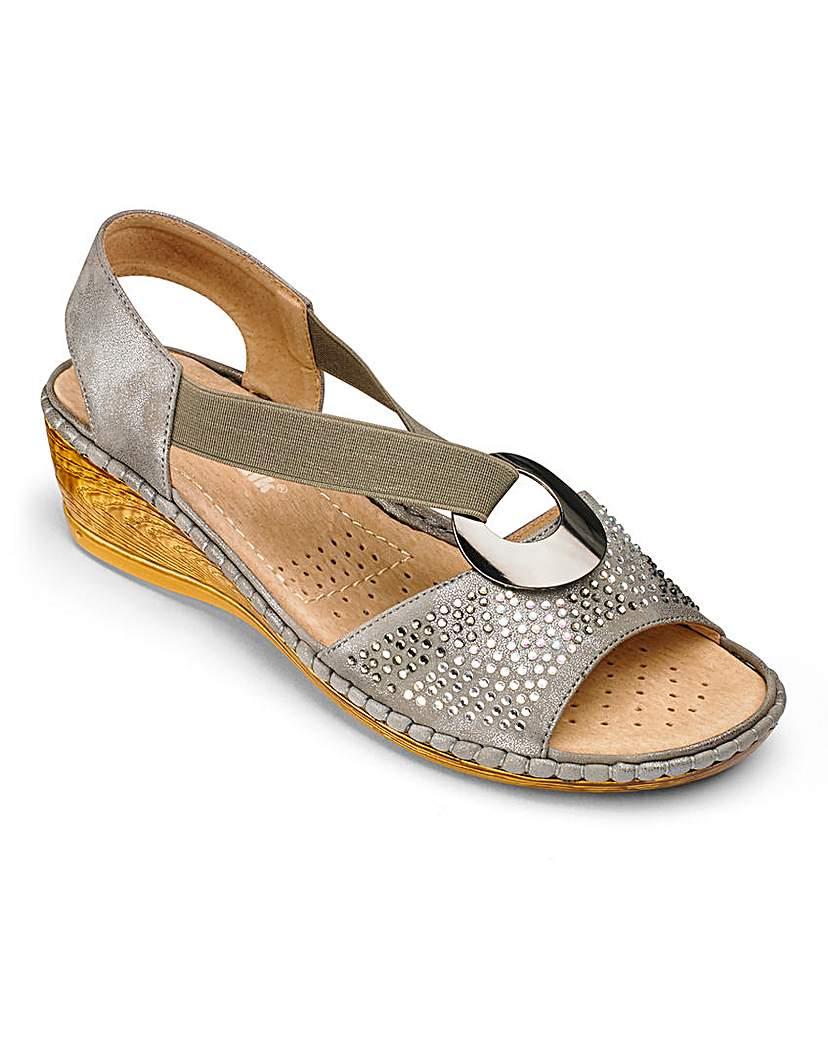 Cushion Walk Wedge Sandals EEE Fit.