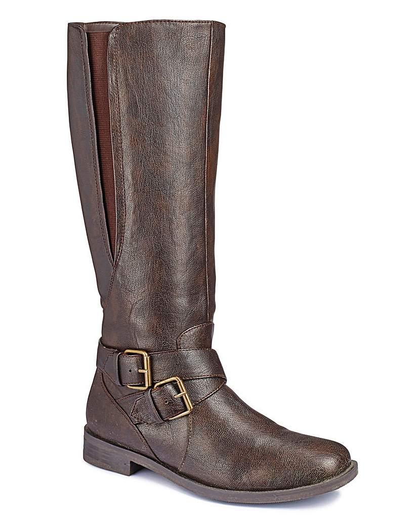 Legroom High Leg Boots EEE Super Curvy
