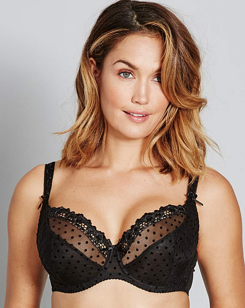 Curvy Kate Princess Black Balcony Bra.