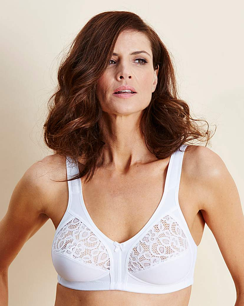 Naturana Lace Non Wired White Bra