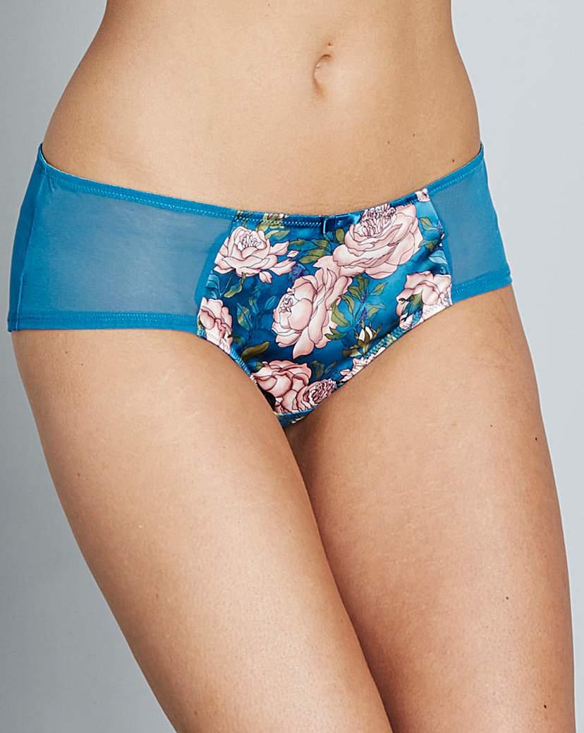 Gossard Japanese Rose Teal Print Shorts