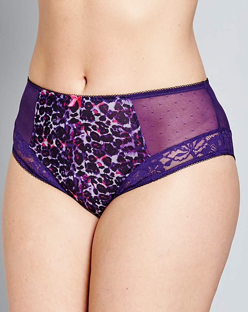Sculptresse Flirtini Purple/Animal Brief