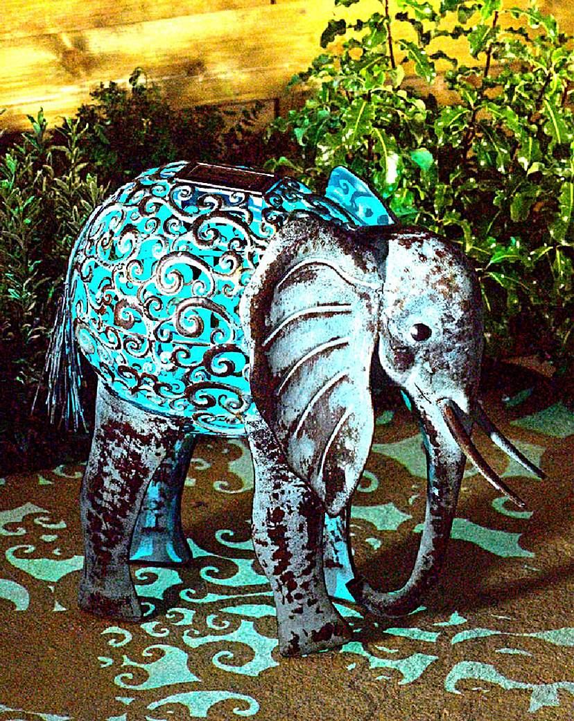 Image of Metal Silhouette Elephant