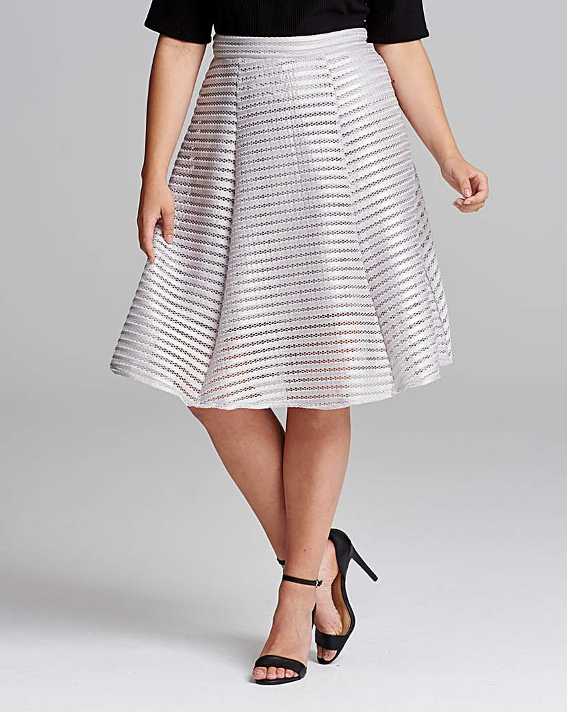 TFNC Midi Length Foil Skirt