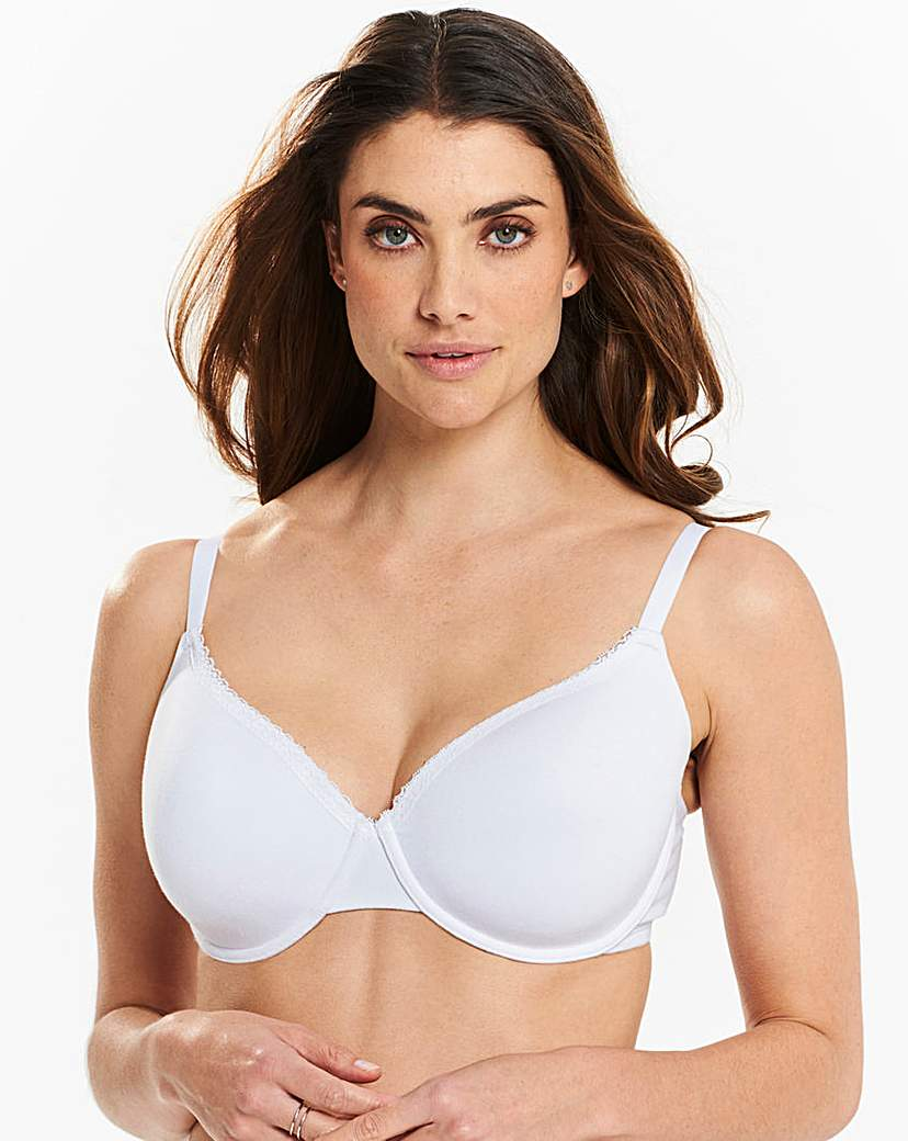 Image of 2 Pack Basic T Shirt White Bras