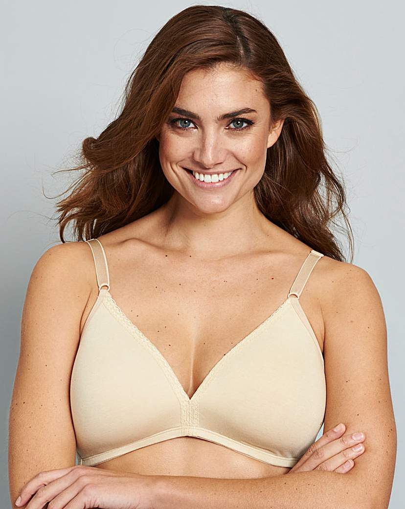 Image of 2 Pack Everyday Non Wired Nat/Black Bras