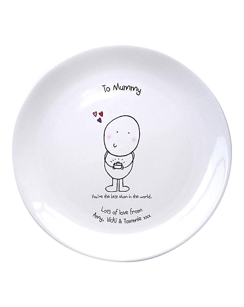 Image of Chilli & Bubbles Personalised Plate