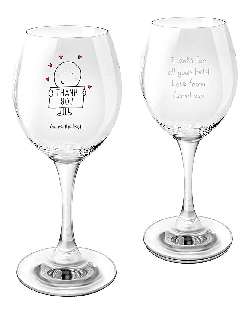 Image of Chilli & Bubbles Personalised Wine Glass