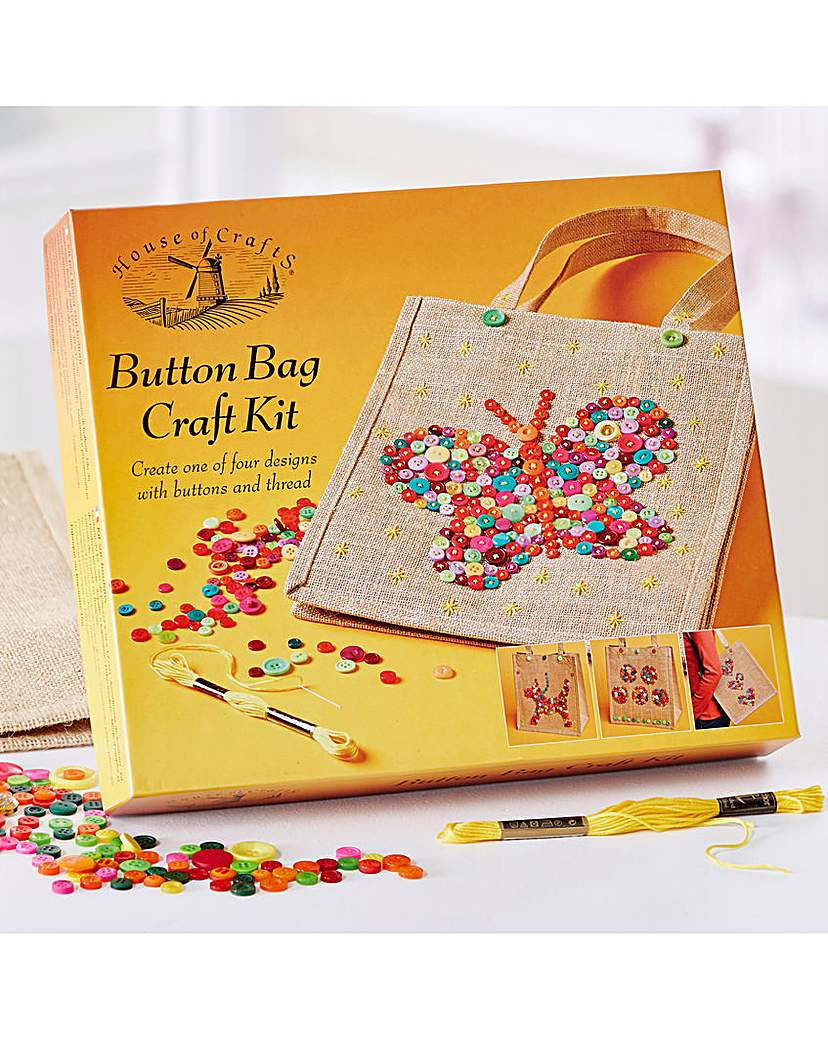 Image of Button Bag Craft Kit