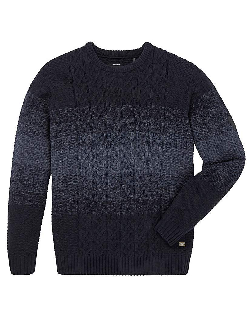 Firetrap Wood Cable Knit Jumper.