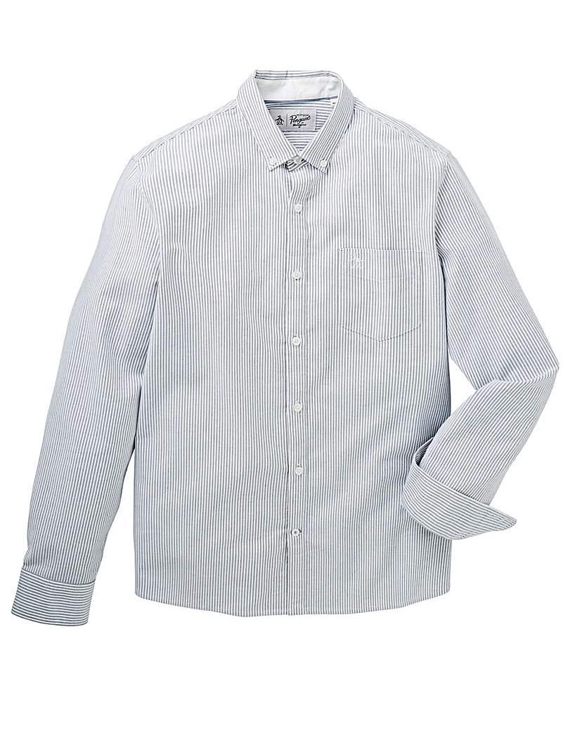 Original Penguin Striped Oxford Shirt.