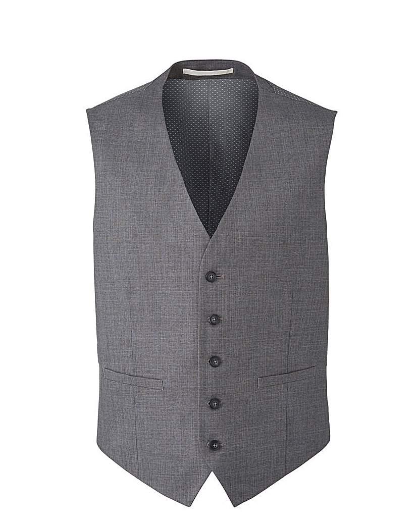 Image of Burton Textured Suit Waistcoat