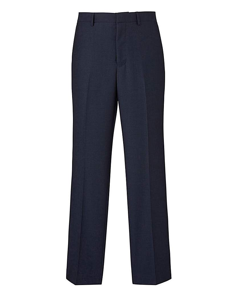 Image of Burton Navy Pindot Suit Trousers 30In