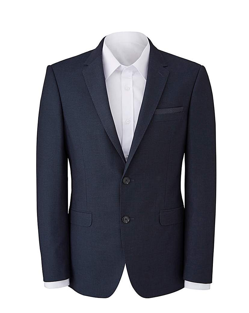 Image of Burton Navy Pindot Suit Jacket Reg