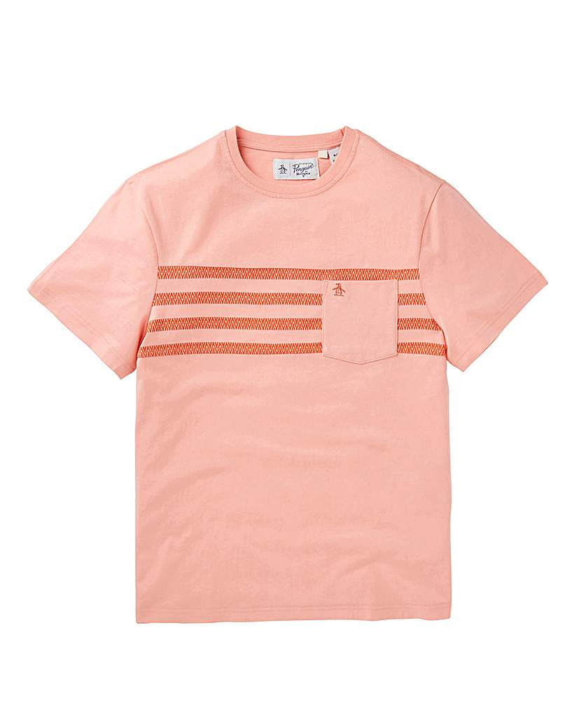 Image of Original Penguin Printed Stripe T-Shirt