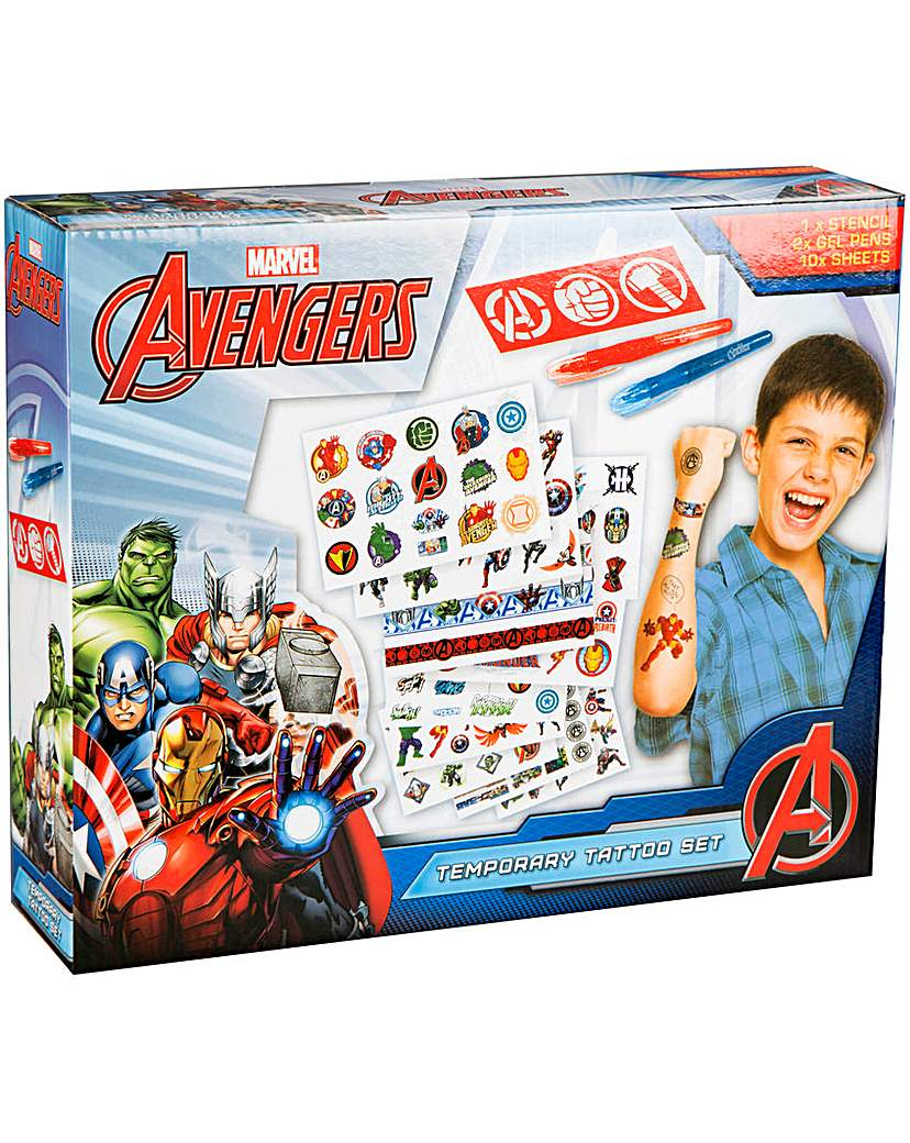Image of Avengers Tattoo Set With Pens