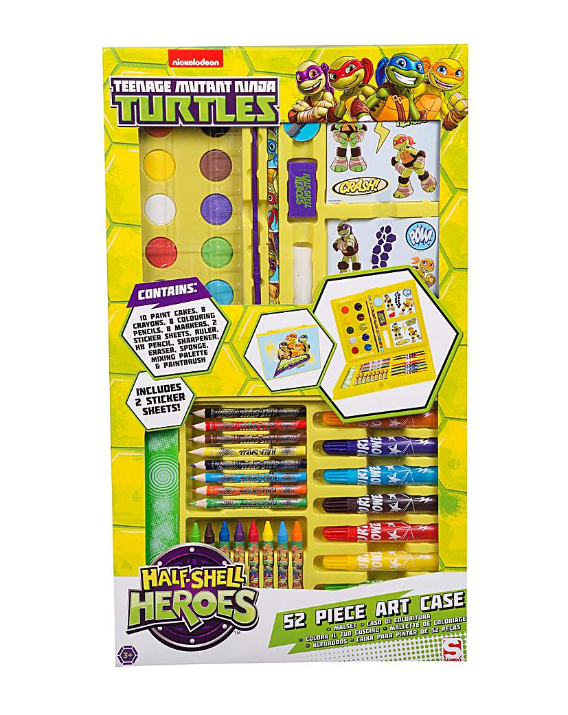 Turtles Half Shell Heroes 52 pc Art Case