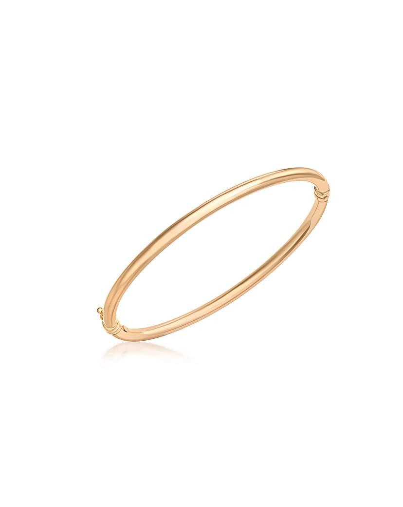Image of 9Ct Gold Plain Bangle