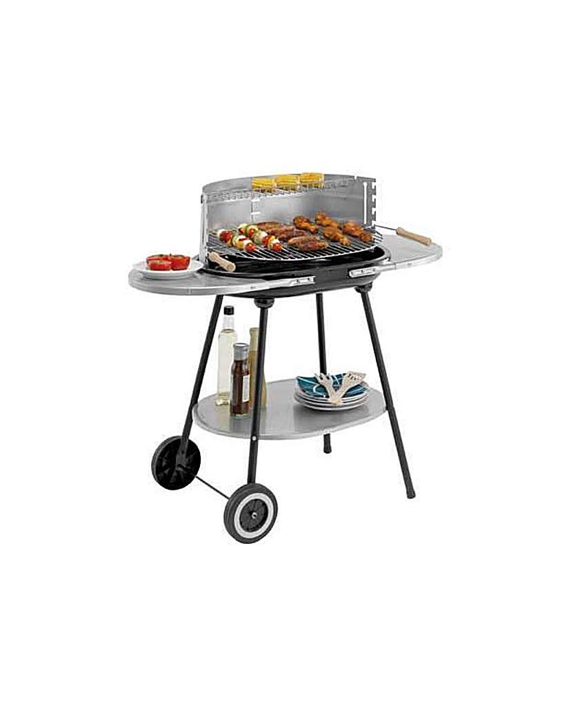 Steel Trolley Charcoal BBQ