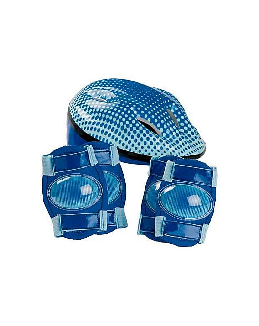 Image of Bike Helmet and Pad Set - Boy's