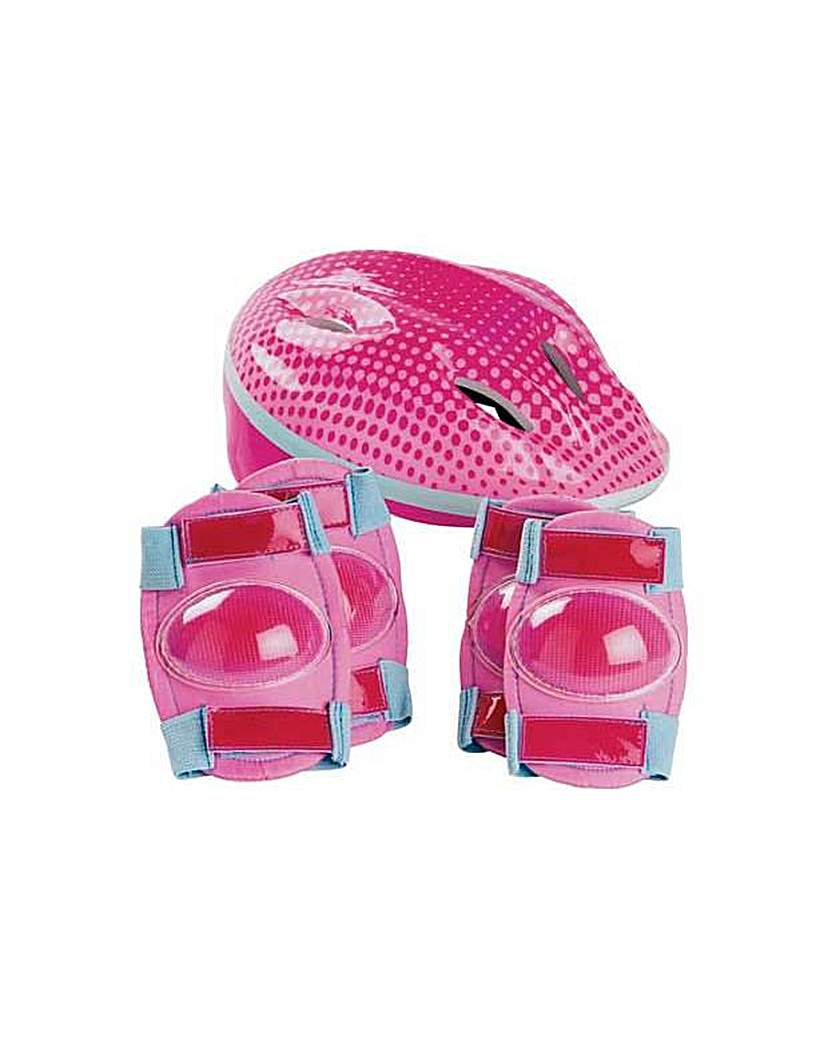 Image of Bike Helmet and Pad Set - Girl's