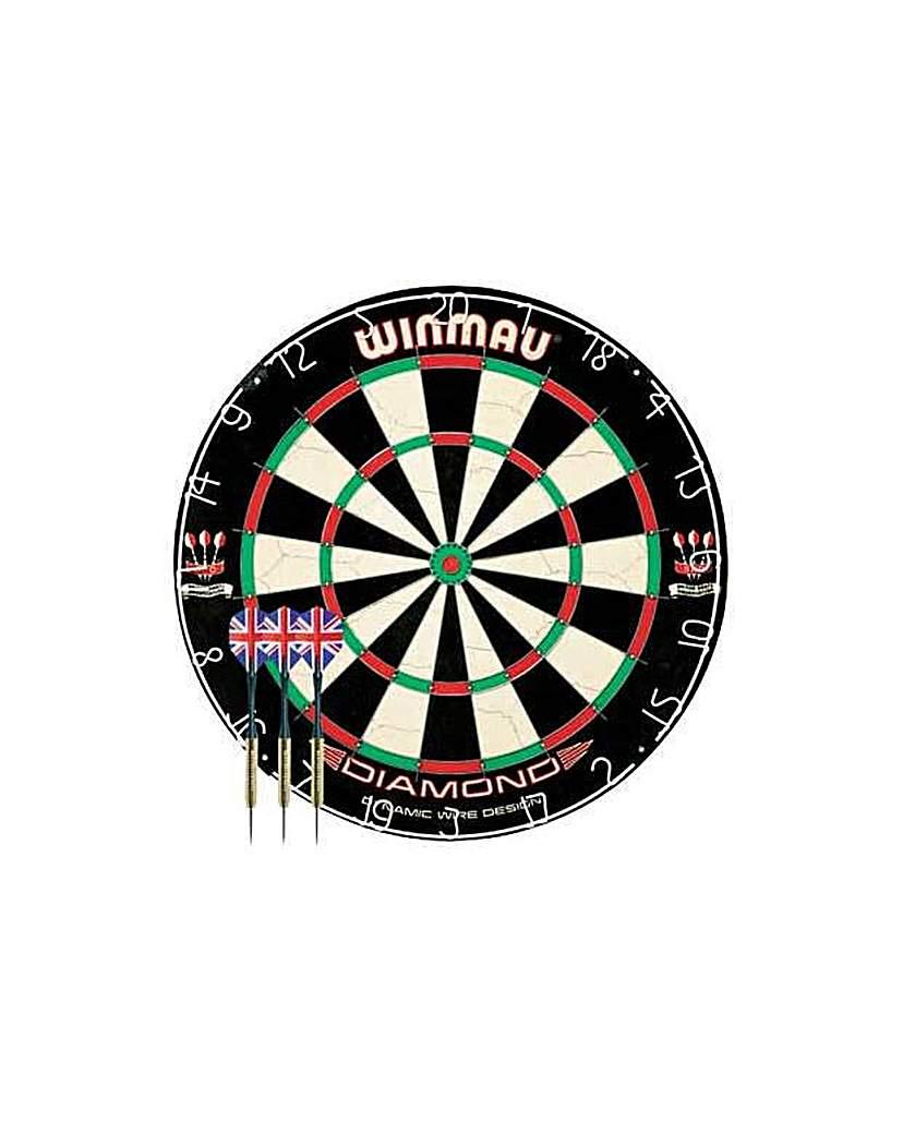 Winmau Diamond Plus Dartboard and Darts