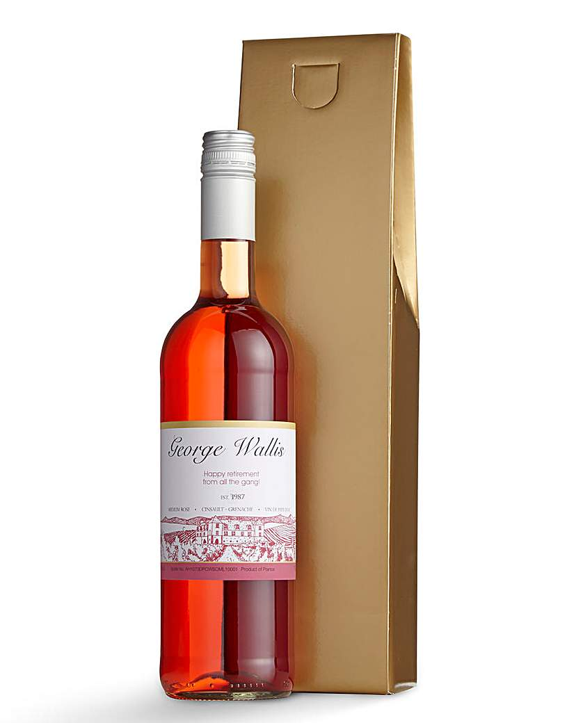 Personalised Rose Wine in a Gift Box