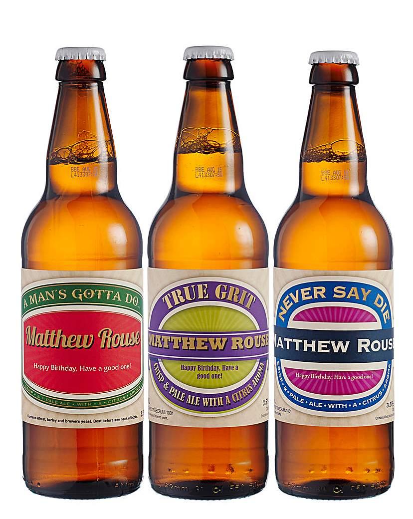 Set of 3 Personalised Beers