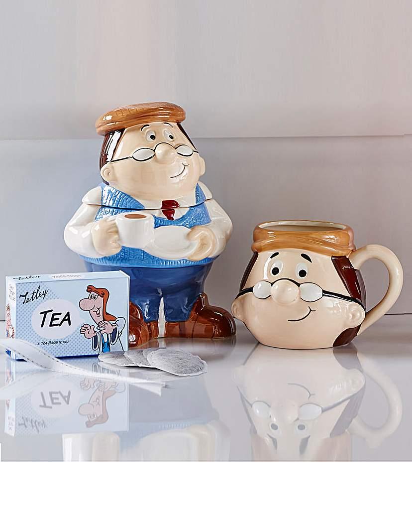 Image of Tetley Tea Caddy and Mug Set