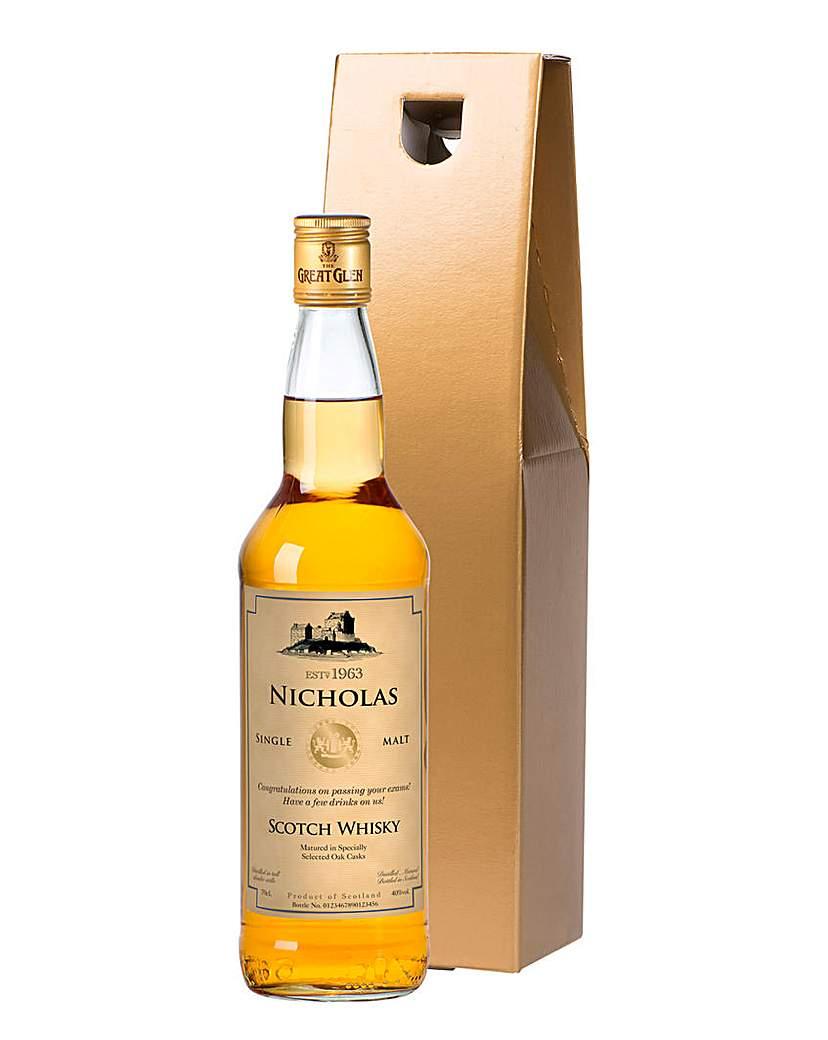 Gift Boxed Personalised Malt Whiskey