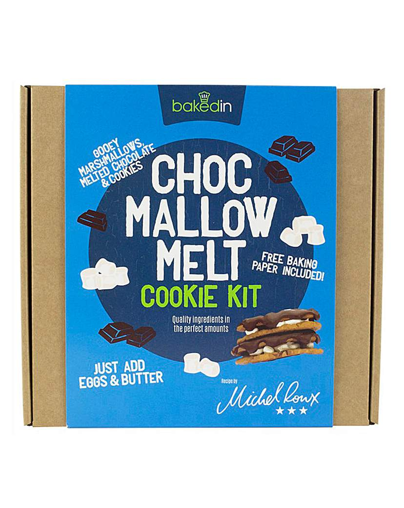 Image of Bakedin Choc Mallow Melt Cookie Kit