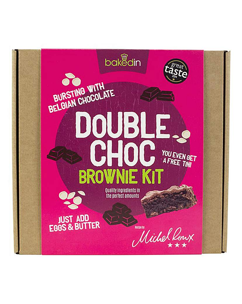 Image of Bakedin Double Choc Brownie Kit