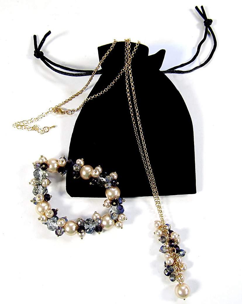 Image of Bracelet and Necklace Set