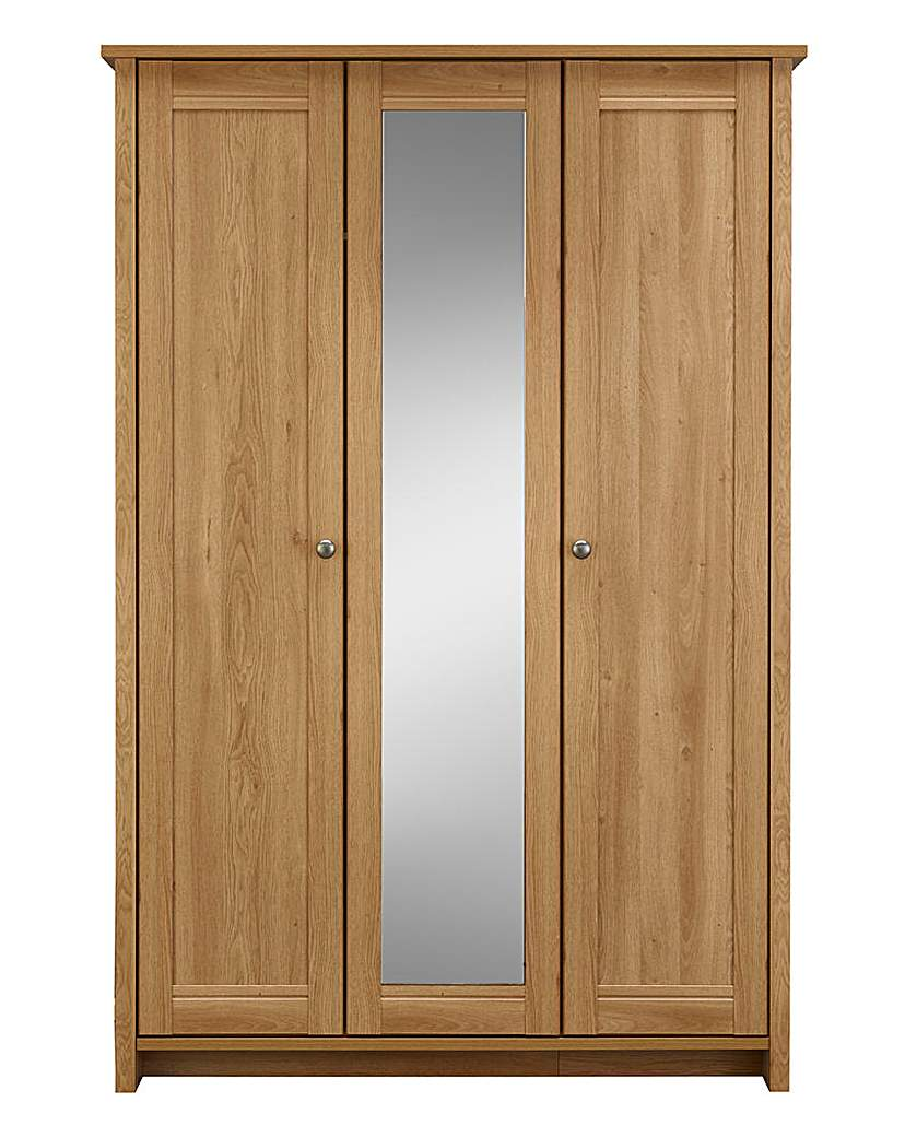 Salcombe 3 Door Mirrored Wardrobe