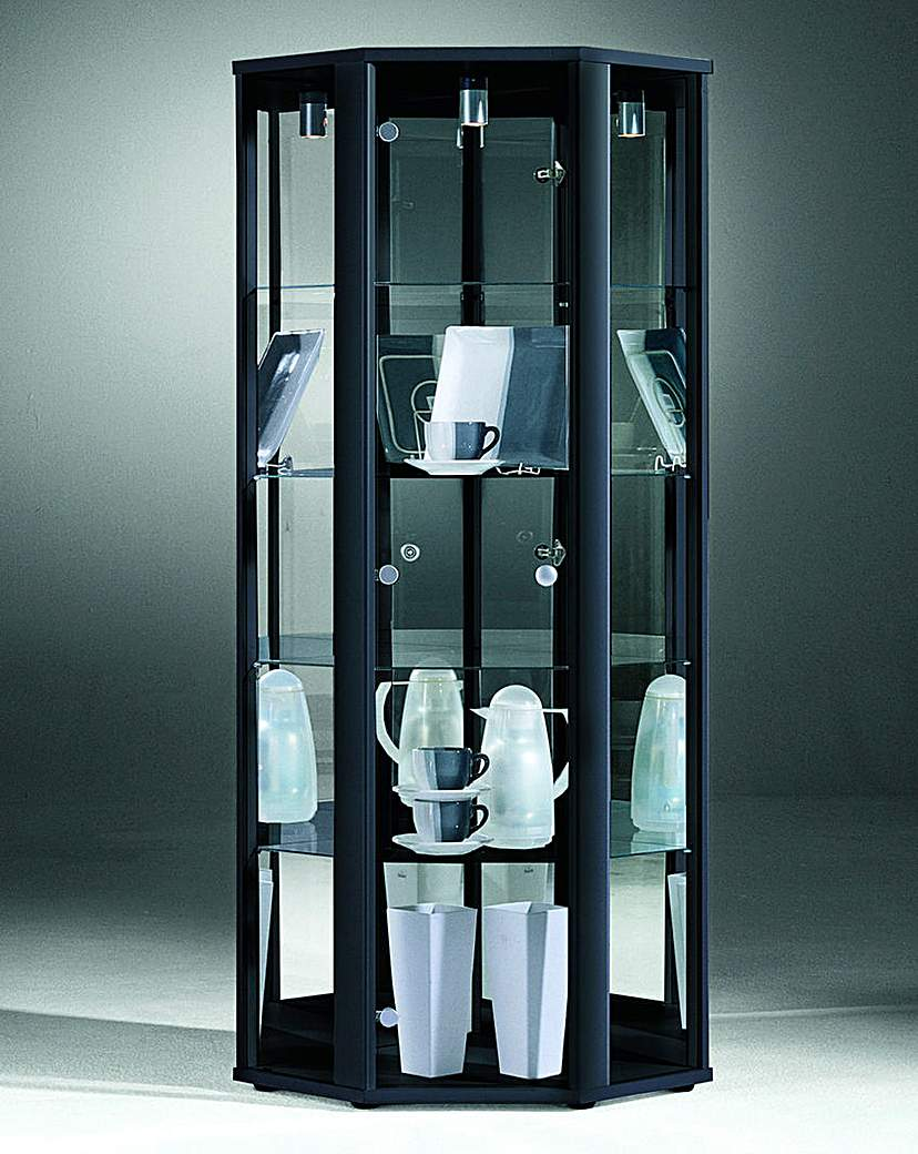 Corner Glass Display Unit