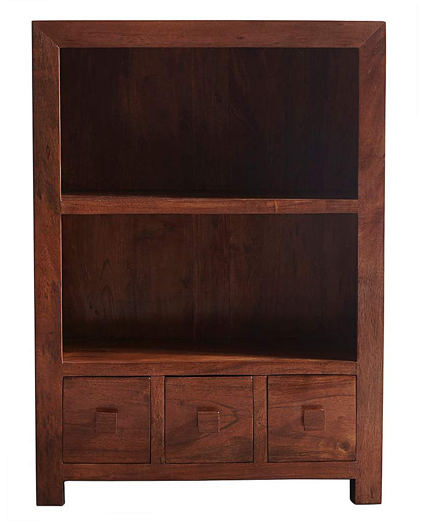 Image of Java Solid Acacia Wood Bookcase